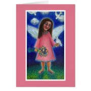 Pink Angel with Dove